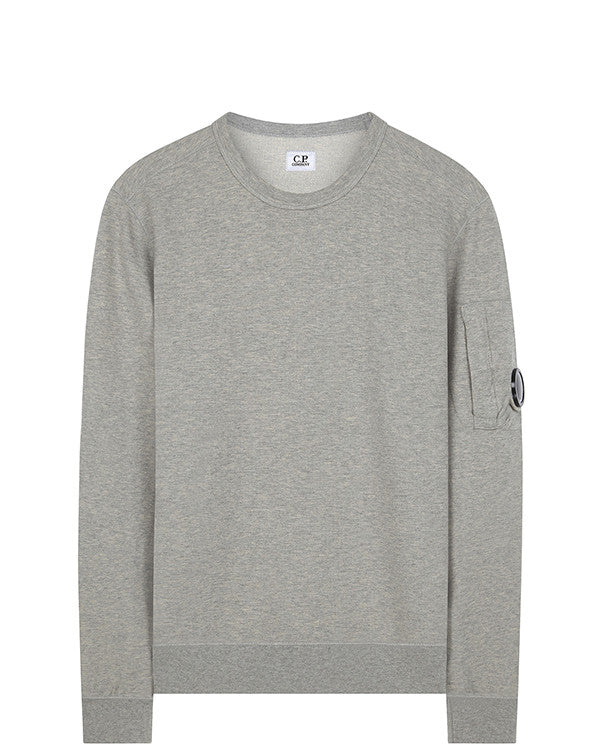C.P. Company Goggle Sleeve Sweatshirt in Light Grey