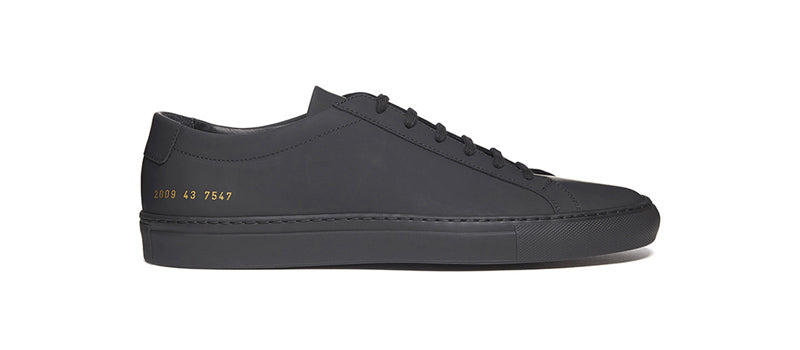 Common Projects Achilles Black Gummy Upper