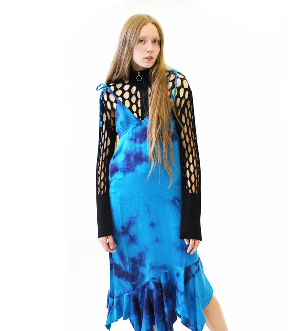 M'A blue tie dye dress