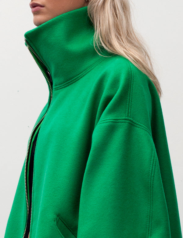 Marques'Almeida Oversized Unlined Wool Coat in Green AW16 2