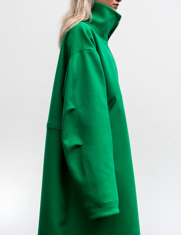Marques'Almeida Oversized Unlined Wool Coat in Green AW16 3