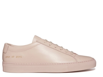 Common Projects Original Achilles Low Leather Sneaker in Blush