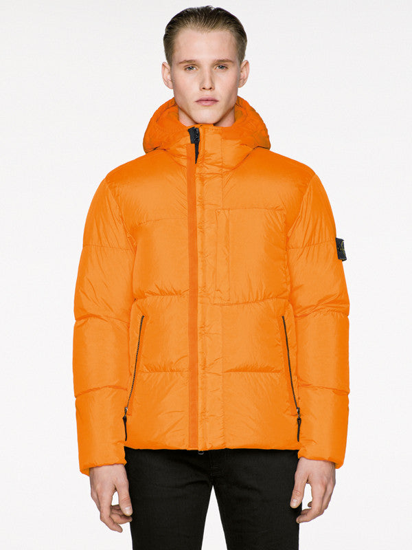 Stone Island Orange Down Jacket