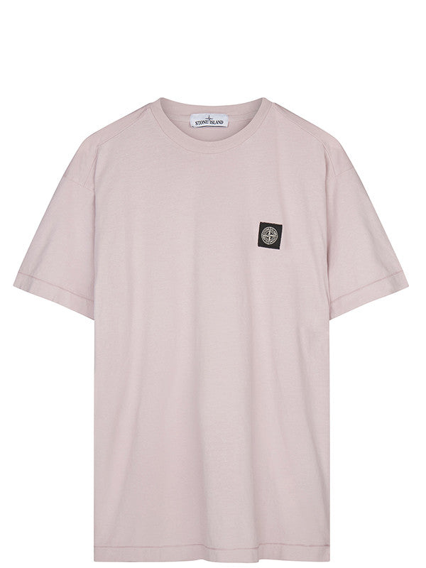 Stone Island Chest Patch T-Shirt in Pink