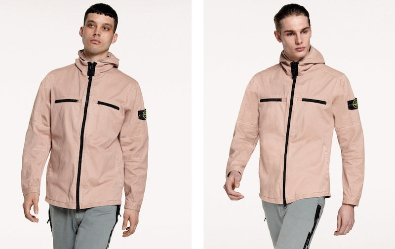 Stone Island Pink Hooded Over Shirt AW16