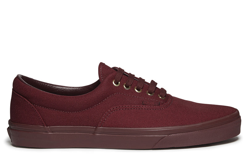 Vans mens Era in burgundy