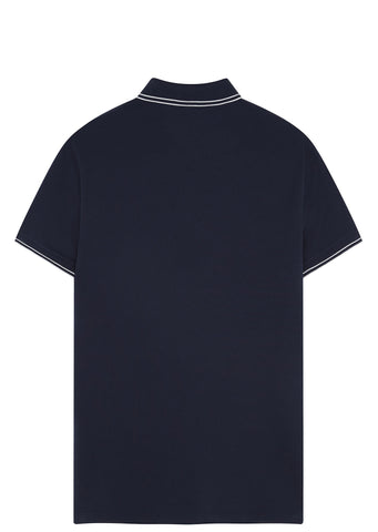 SS17 Cotton Piquet Short sleeve Polo Shirt in Navy