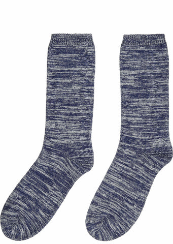 Melange Socks in Blue