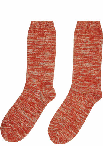 Melange Socks in Red