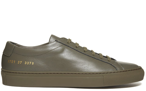 Original Achilles Low Leather Sneaker in Army Green