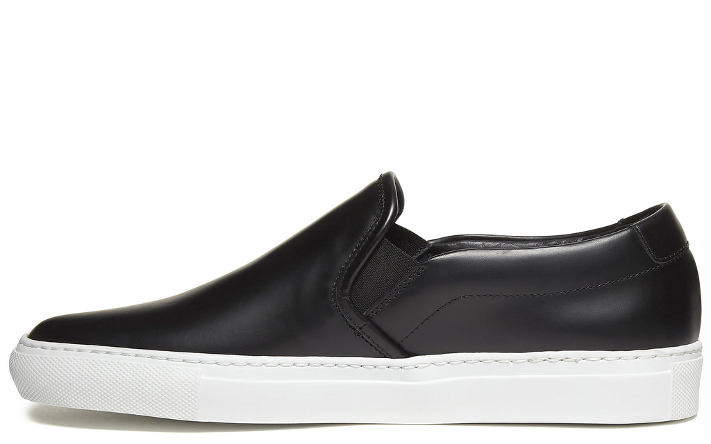 Slip On Leather Sneaker in Black