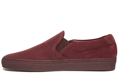 Slip On Suede Sneaker in Burgundy