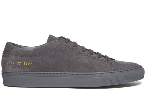 Original Achilles Low Leather Sneaker in Dark Grey