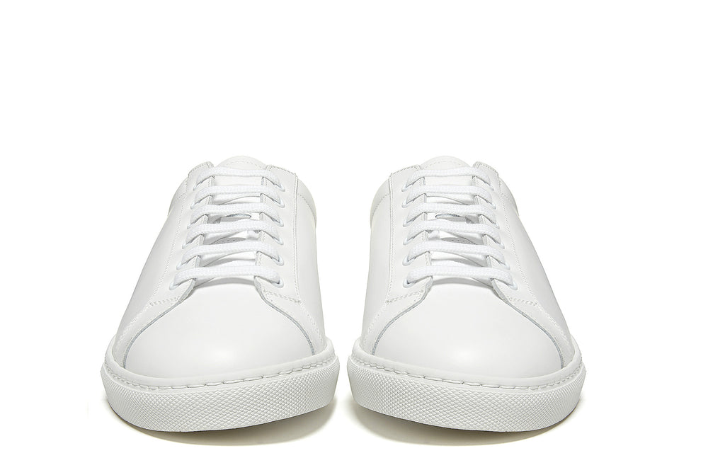 Retro Low Boxed Leather Sneaker in Box White