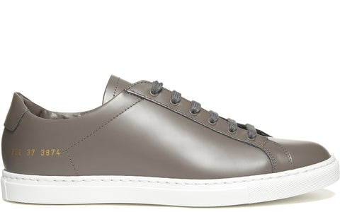 Retro Low Boxed Leather Sneaker in Grey