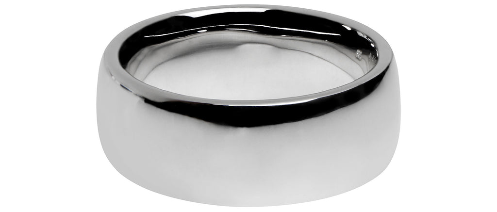 Cushion Chubby Band Ring in Silver