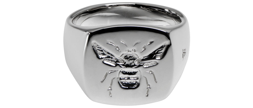 Bumble Bee Ring in Silver