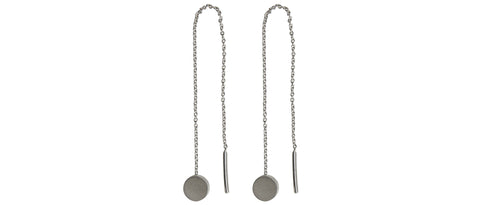 Ear Loop Earrings in Silver