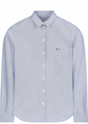 Oxford Tricolour Patch Classic Shirt in Blue