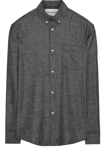 1940s Chambray Shirt in Black