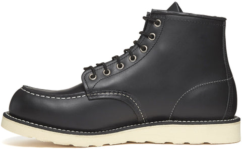 8130 Heritage Work Moc Toe Boot in Black Chrome