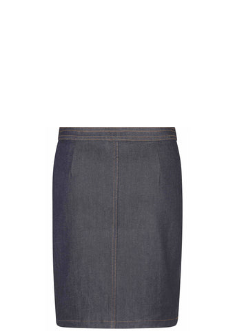 70's Denim Stretch Brut Skirt in Indigo