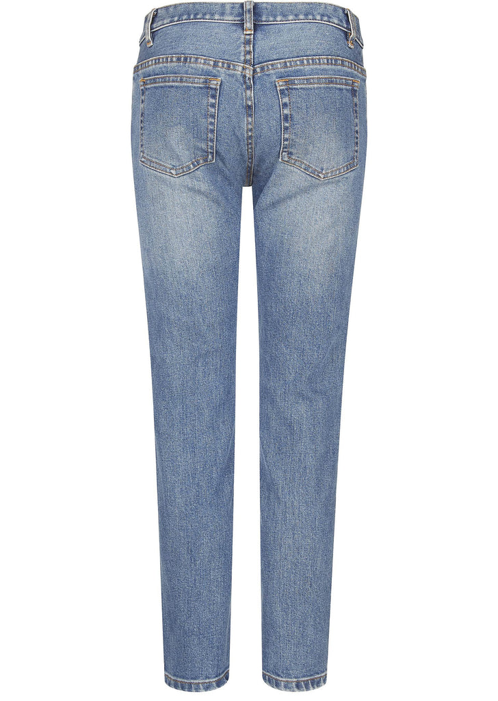 Denim Stretch Delave Washed Jeans in Indigo