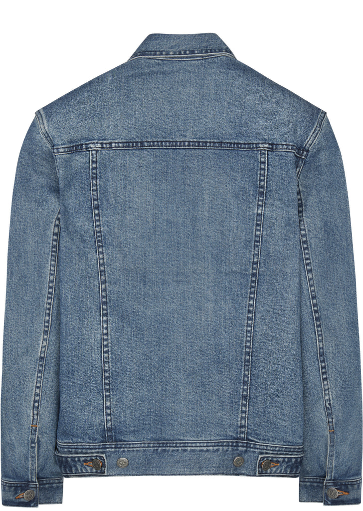 Classic Stretch Denim Jacket in Washed Indigo