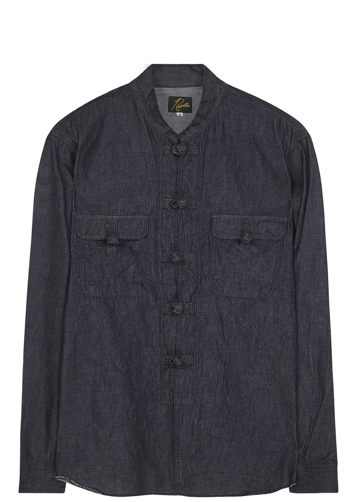 SS17 Oriental Button Shirt in Indigo