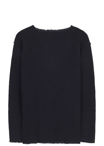 SS17 Cut Off Boat Neck Long Sleeve T-shirt