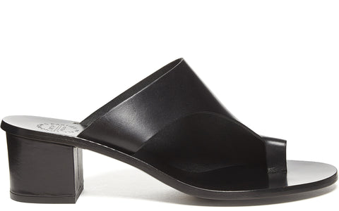 SS17 Cyla Vaccheta Sandal in Black Leather