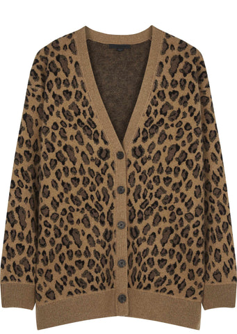 SS17 Leopard V Cardigan in Leopard