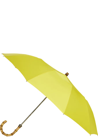 SS17 Whangee Cane Crook Folded Umbrella in Yellow