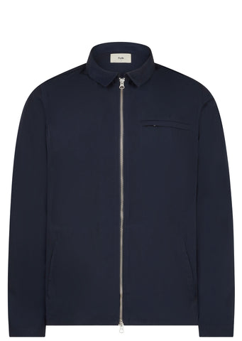 SS17 Zip Shirt Jacket in Navy