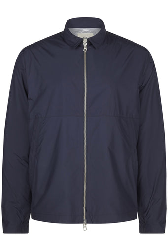Folk Nylon Box Jacket in Navy