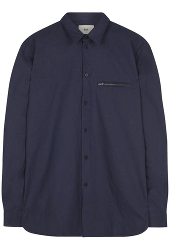 SS17 Folk Zip Pocket Shirt in Denim