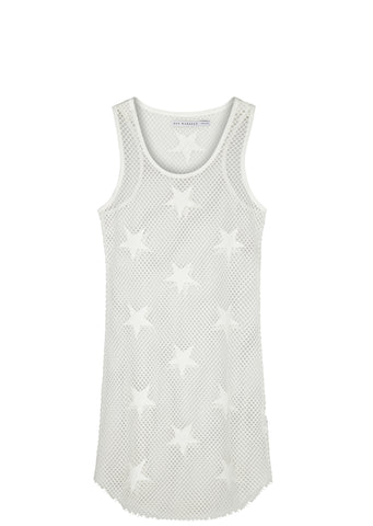 SS17 Racer Back Tank Dress in White
