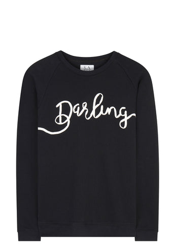 SS17 Long Sleeve 'Darling' Sweatshirt in Black