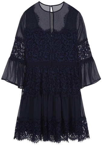 SS17 London Lace Dress in Navy