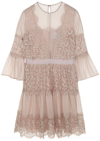 SS17 London Lace Dress in Dusty Pink
