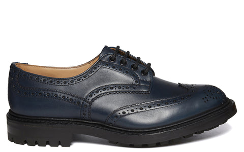 SS17 Bourton Leather Brogue in Navy Blue