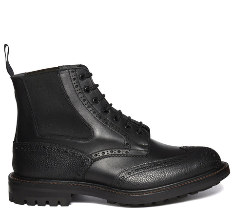 SS17 Ellis Brogue Boot in Black