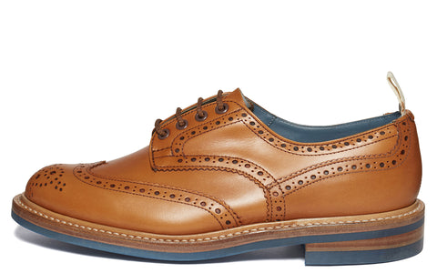 SS17 Bourton Revival Brogue in Acorn/Blue
