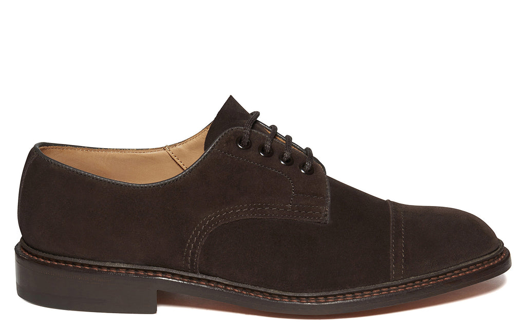SS17 George Derby Shoe in Coffee