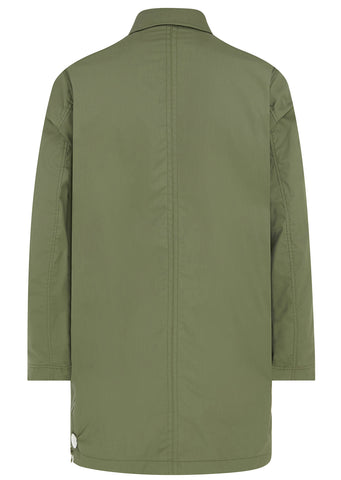 SS17 Lenker Cotogum Rainmac in Military Green