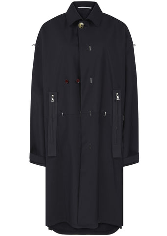 SS17 Modified Overcoat in Dark Navy