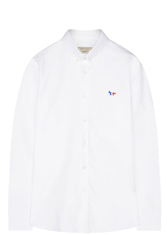 SS17 Oxford Tricolour Patch Classic Shirt in White