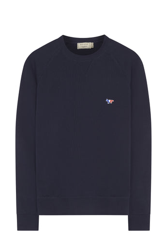 SS17 Tricolour Fox Patch Sweatshirt in Navy