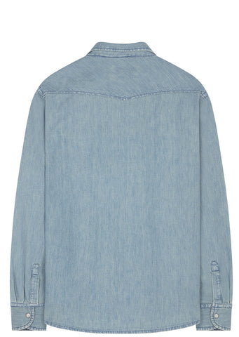 SS17 Western Denim Shirt in Washed Blue