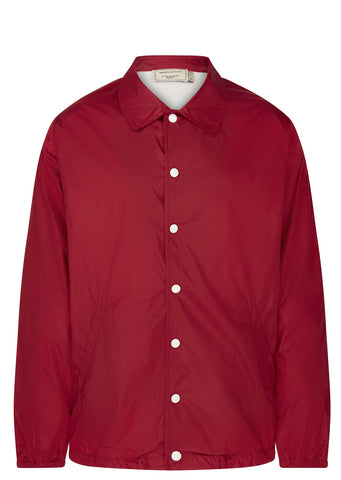 SS17 Bertil Logo Coach Jacket in Red